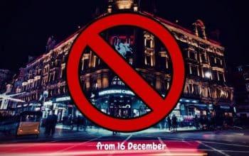 London Indoor Entertainment Shuts on 16 December